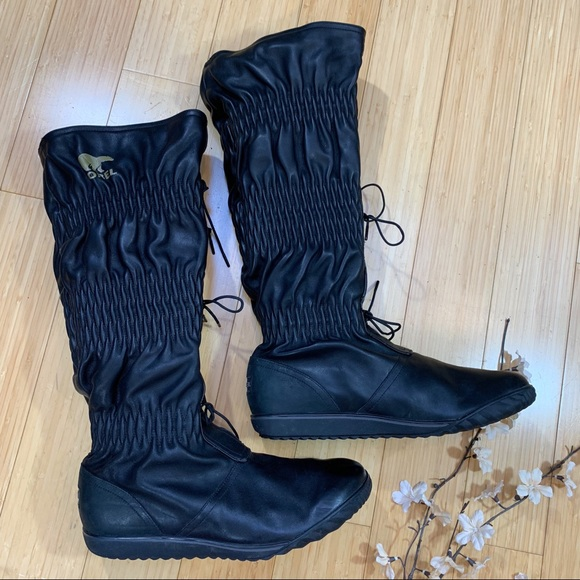 0f0d5d1ff Sorel Shoes | Firenzy Black Leather Boots 11 | Poshmark